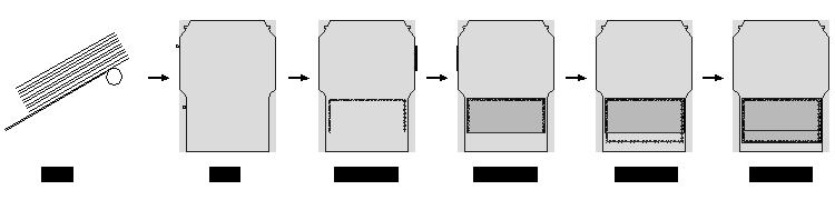 TM-382F特快專遞封貼膜機 加工示意圖